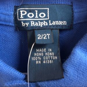 Polo by Ralph Lauren Shirts & Tops - New Boy's Polo Ralph Lauren Shirt 2/2T
